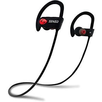 Amazon Com Senso Bluetooth Headphones Best Wireless Sports Earphones W Mic Ipx7 Waterproof Hd Stereo Sweatproof Earbuds For Gym Running Workout 8 Hour Battery Noise Cancelling Headsets Electronics