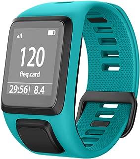 NotoCity Silicone Watch Band Replacement for Spark/Spark 3/Golfer 2/Adventurer/Runner 2/3 Smartwatch for Man Women(Aquamarine Blue)