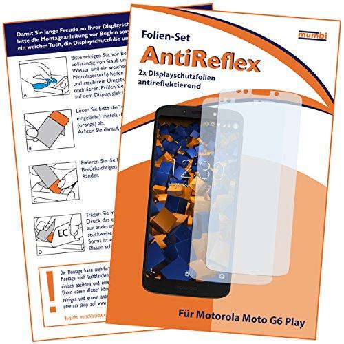 mumbi Schutzfolie kompatibel mit Motorola Moto G6 Play Folie matt, Bildschirmschutzfolie (2X)