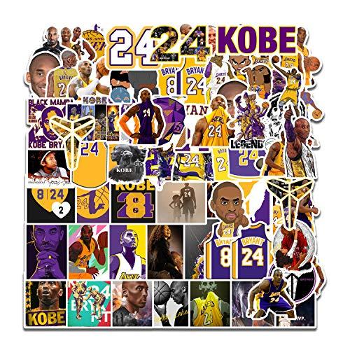 XIAMU Etiqueta engomada de la Estrella de la NBA para el Equipaje Que Recuerda la Etiqueta de la decoración del monopatín de la Guitarra del Coche 75 Piezas