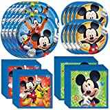Unique Disney Junior Mickey Mouse Dinnerware Bundle | Plates, Napkins | Kids Birthday Party, Baby Shower Decor, Party Decoration Supplies