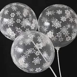 DAPANGZI 10 Piezas Globo De Látex De Copo De Nieve Blanco Globos De Feliz Cumpleaños Bodas Decoraciones De Fiesta De Navidad Aire Niños Baby Shower