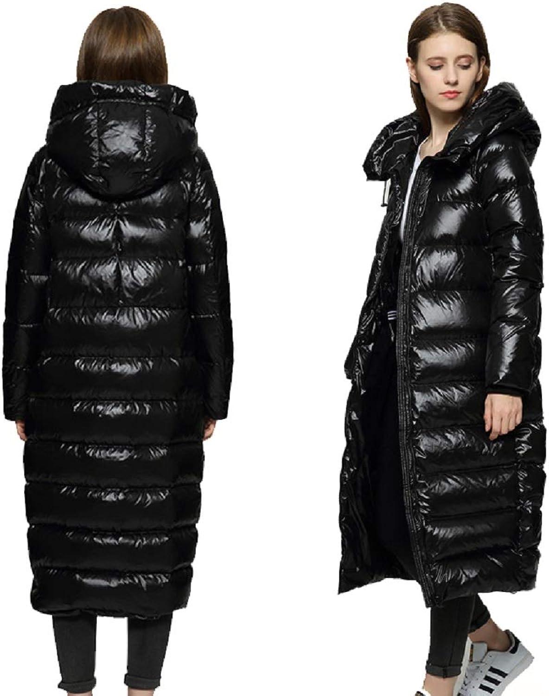 Aehoor Winter Women Down Jacket Cocoon Long Outerwear Thickening Warm 90% Duck Down