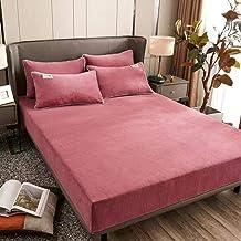 UKUCI Melk Kasjmier Luxe Hoeslaken Kussensloop Matras Cover Winter Effen Kleur Koning Queen Size Sprei Bed Cover