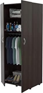 Inval America 2-Door Armoire with Clothing Storage