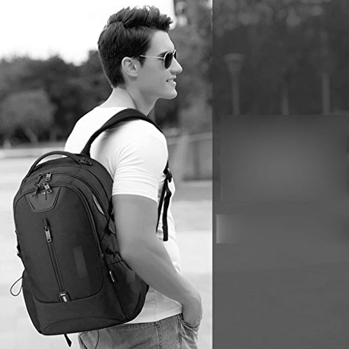 GCCI Sac à dos de loisir Lady sac à dos Hommes 'S Sac à dos Décontracté Affaires sac à dos Voyage Sac à dos étudiant Sac Mode Tendance Sac à dos pour ordinateur,Noir,49  29  18cm
