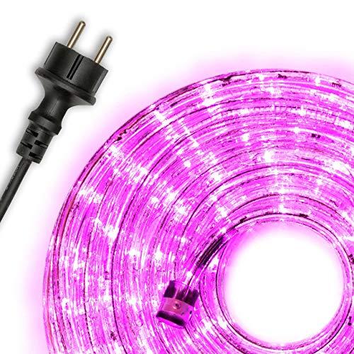 Nipach GmbH 10m 240 LED Lichterschlauch Lichtschlauch warm-weiß – Innen- und Außenbereich – energiesparende Leucht-Dekoration für Garten Fest Weihnachten Hochzeit Gesamtlänge ca. 11,50 m
