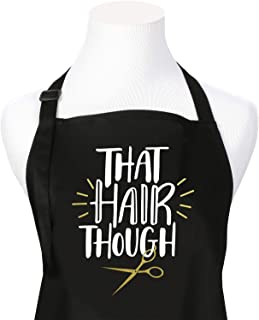 That Hair Though Salon Stylist Apron, Black with 3 Pockets