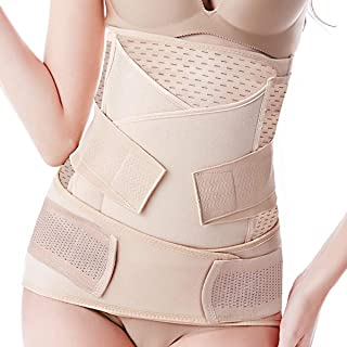 Bestnewborn Postpartum Belly Band 3 Belts in 1, Postnatal Wrap Post C Section Recovery Girdle Binder