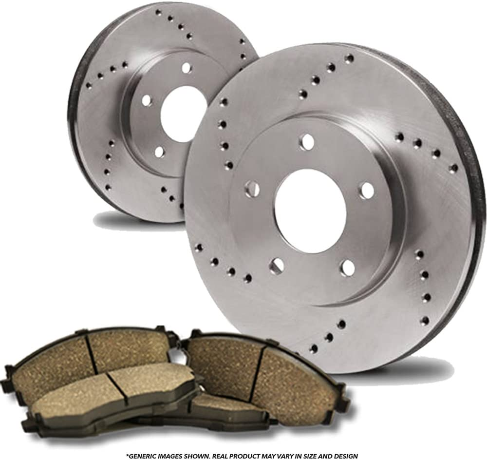 Front Japan Maker New Discount is also underway Kit High-End 2 Cross-Drilled Disc Rotors + Brake 4 Cera