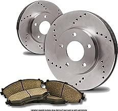Fits:- BMW 5lug Front+Rear Kit 8 Ceramic Pads 4 OEM Replacement Disc Brake Rotors Heavy Tough-Series