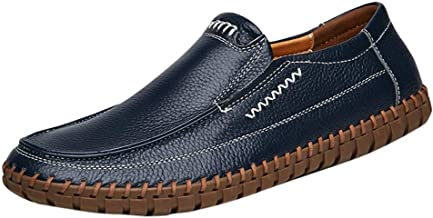 $41 » Aunimeifly Men's Business Leather Shoes Large Size Non-Slip Soft Bottom Loafers Driving Casual Peas Shoes