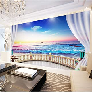 Wallpaper Murals Custom Photo 3D Wallpaper Modern Sunrise Landscape Of Seaside Living Room Sofa Background Customize Perso...