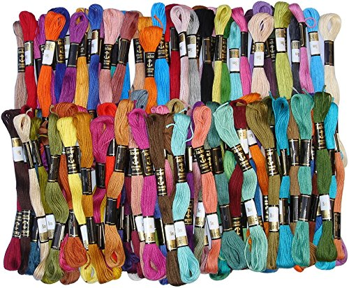 100 Anchor Solid Stitch Sewing Skeins Cotton Embroidery Thread Floss 100 shades by ANCHOR