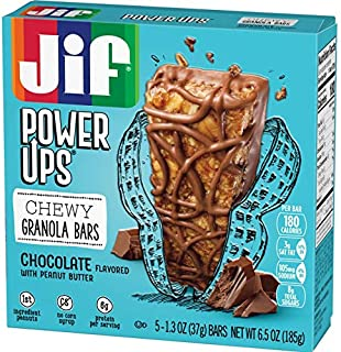 Jif Power Ups Chewy Granola Bars, Chocolate Peanut Butter, 36 Count