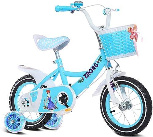 sin mínimo GAIQIN Durable Bicicleta para Niños Niños Niños Bicicleta 3-6-7-9-11 Freno de Mano de Niños y niñas de años, Control de Seguridad (con Canasta) (Color   azul, Tamaño   16inch)  venta con alto descuento