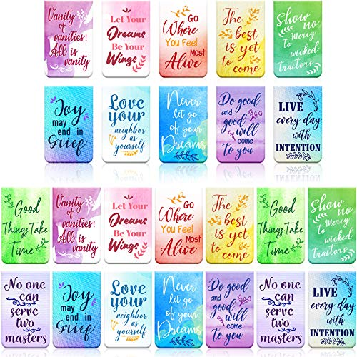 36 Pieces Magnetic Bookmark Bible Bookmarks with Scripture Verses Inspirational Bookmark Magnet Page Markers Motivational Book Markers for Students Teachers Reading Supplies,12 Designs