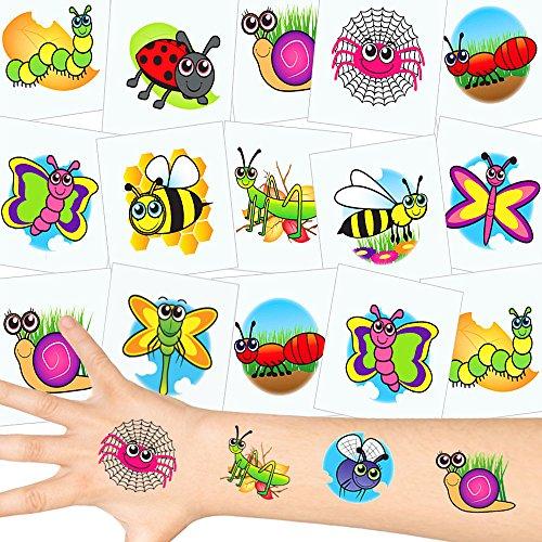 German-Trendseller® - Kleine Tiere Tattoos Set ┃ NEU ┃ Kinder Party ┃ Kindergeburtstag ┃ Mitgebsel ┃36 Tattoos