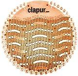 clapur Urinalsieb (2 Stk.) mit Austausch-Indikator und Spritzschutz, für jedes Pissoir und Urinal, rund (2x Mango)