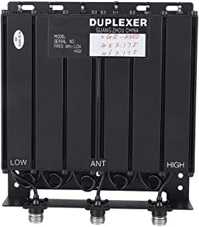 50 W 6 Cavity Duplexer UHF duplexer TX: 455.175 RX: 465.175 N Connector with N-connector/75 dB Isolation of This duplexer for Signal Communication in Residential Areas Shopping Center Hotel