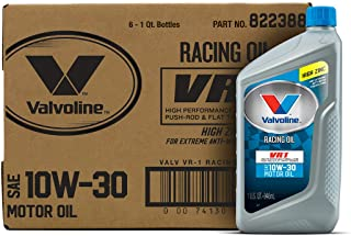 Valvoline VR1 Racing SAE 10W-30 Conventional Motor Oil 1 QT, Case of 6