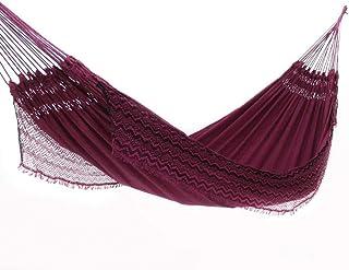 Rede de Dormir Jeans Life Vinho com Preto