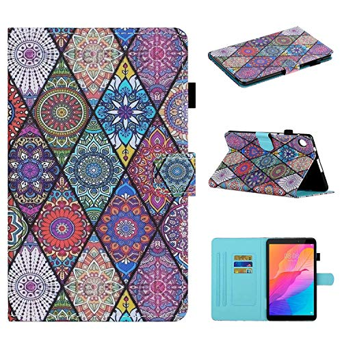 Miagon für Huawei MatePad T8 8.0 Zoll Hülle,Schlank Fit PU Leder Folio Stand Brieftasche Cover Cute Muster Stoßfest Shell,Totem
