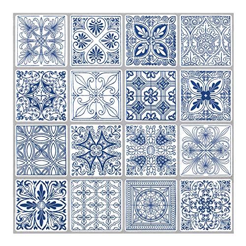 Tic Tac Tiles Anti Schimmel Peeling und kleben Wandfliese Backsplash In marokkanischen & portugiesischen Design 10 Portugiesisch Blau