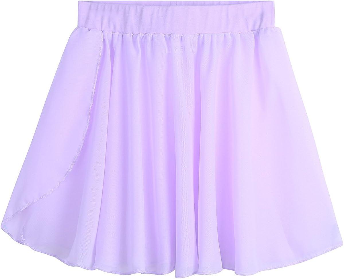 Alvivi Girls Award Surprise price Pull-On Ballet Dance Basic Wrap Skirt Class Chiffon