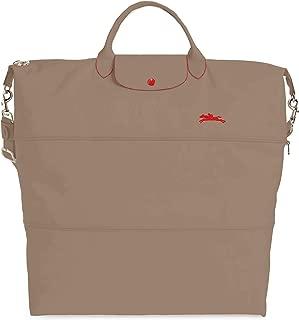 Longchamp Women's Le Pliage 21-Inch Expandable Nylon Travel Bag Handbag Taupe Vison