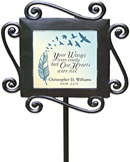 """GiftsForYouNow Wrought Iron Personalized Memorial Garden Stake, 28"""" by 8.5"""""""