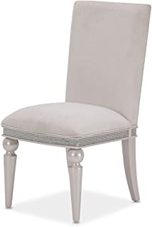 Michael Amini- Aico Furniture Glimmering Heights Side Chair in Ivory (Set of 2)