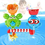 AIVIAI Baby Bath Toy Interactive Bathtub Toys Kids Waterfall Water Shower Station Toy for Kids &...
