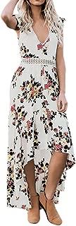 Womens Boho Long Maxi Dress Ladies V Neck Floral Casual Beach Party Wedding Guest Dress