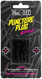 Muc-Off Puncture Plug Refills - Set of 5 Thick and 5 Thin Puncture Plugs for Use with The Puncture Plug Repair Kit - Suita...