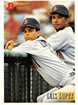 1993 Bowman Baseball #250 Luis Lopez RC Rookie Card San Diego Padres Official MLB Trading Card Produced By Topps