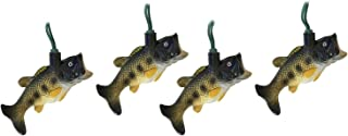Christmas Tree Lights Bass Fish Decoration Lights Large Mouth Bass Holiday Ornament Lights (10 Foot)