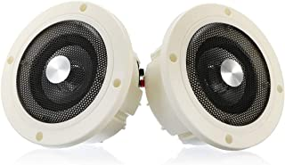 Romica 1 Pair Waterproof Marine Stereo Audio Speakers Wall Mount Ceiling Speakers Indoor Outdoor Music Player for Boat ATV...