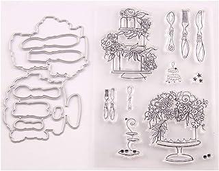 Fogun Fleur Matrices De Découpe Et Tampons Clairs Scrapbooking Stamp En Silicone Pour DIY Loisirs Créatifs Décor