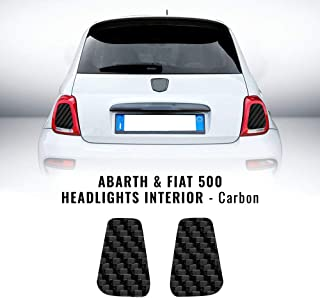 Abarth Scorpion Decals X2 Bianco per Fiat 500 595 Seat Laterali Posteriori