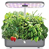 Wattne 12 Pods Hydroponics Growing System with LED Grow Light for Home Kitchen, Adjustable (8-19 inches) Height, Automatic Timer Germination Kit for Vegetables & Fruits
