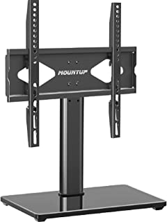 Universal TV Stand - Table Top TV Stand with Mount for 37-55 Inch Flat Screen TVs, Height Adjustable TV Mount Stand with T...