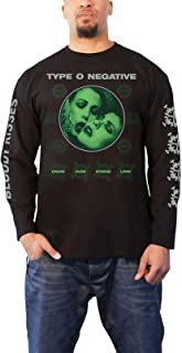 T Shirt Crude Gears Band Logo Official Mens Black Long Sleeve