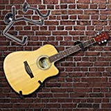 colgador de pared de guitarra horizontal soporte de pared de seguridad slatwall negro