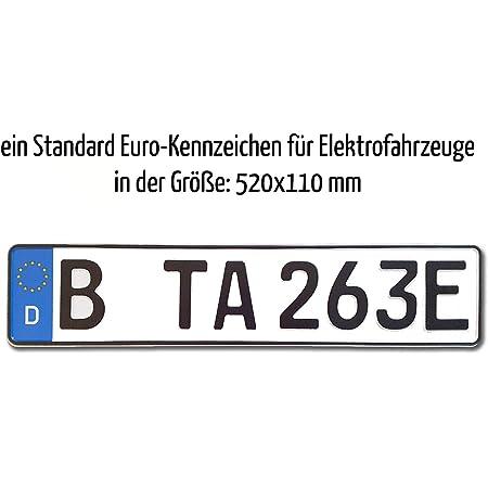 Ta Tradearea 1 Kfz Euro Kennzeichen In Der Standard Größe 520x110 Mm Für Elektrofahrzeuge Auto