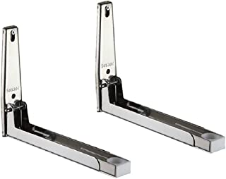 Rykey Sturdy Foldable 304 Stainless Shelf Rack for Microwave Oven Wall Mount Bracket Load 130lb