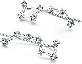 IRIS GEMMA Constellation Ear Crawler Earrings Ear Climber Earrings, Platinum Plated, AAA Zircon Inlayed, Hypoallergenic Earrings for Women