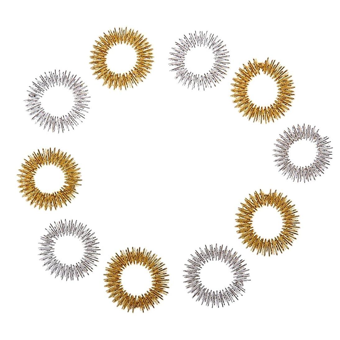 維持医療過誤オープナーSUPVOX 10ピース指圧マッサージ指輪循環リング子供のための十代の若者たち大人ランダム色