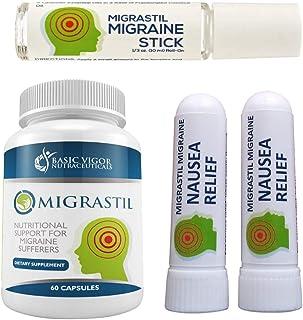 Basic Vigor Migrastil Migraine Relief Kit, with Migraine Stick