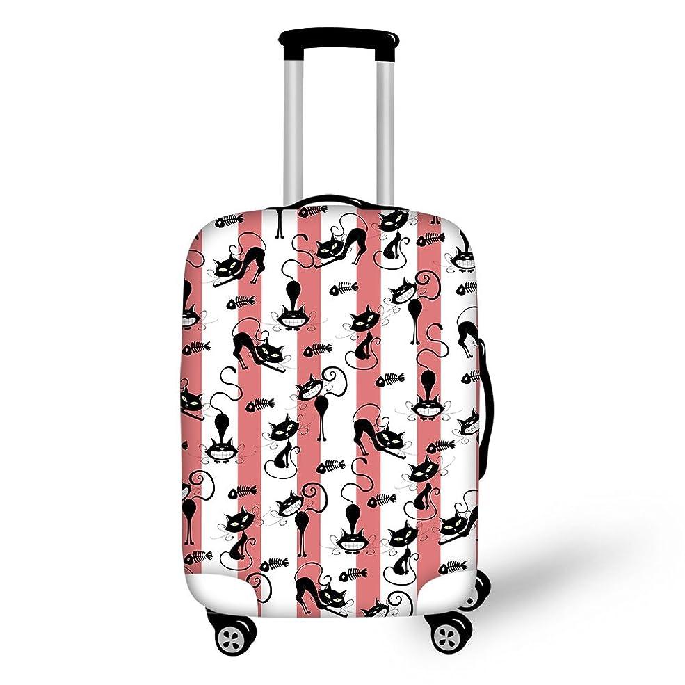 アルネ甘い展開するCozeyat スーツケースカバー 伸縮素材 丈夫 防水 s m l サイズ かわいい 犬 猫 柄